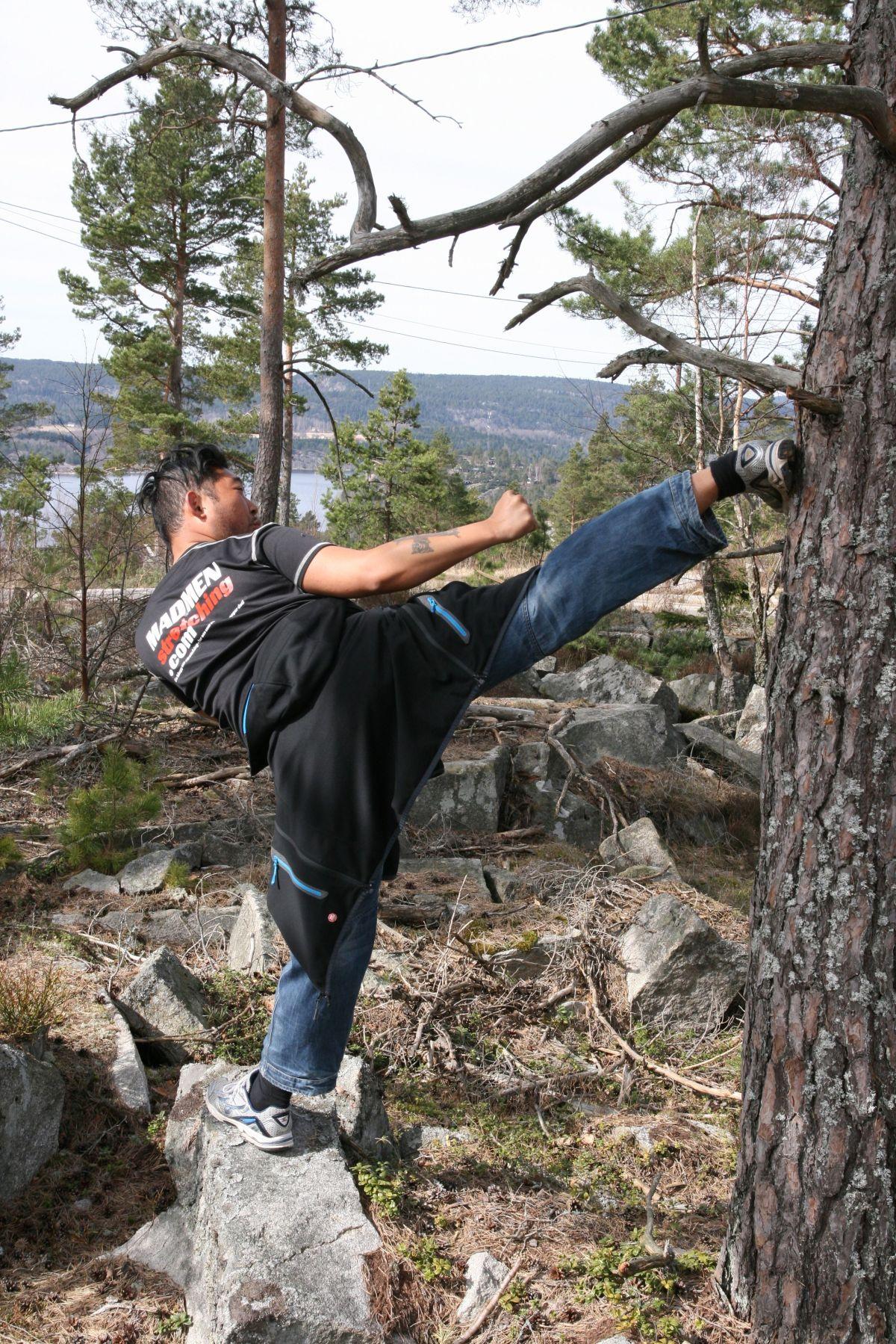 Stretching og trefelling – perfektkombo!