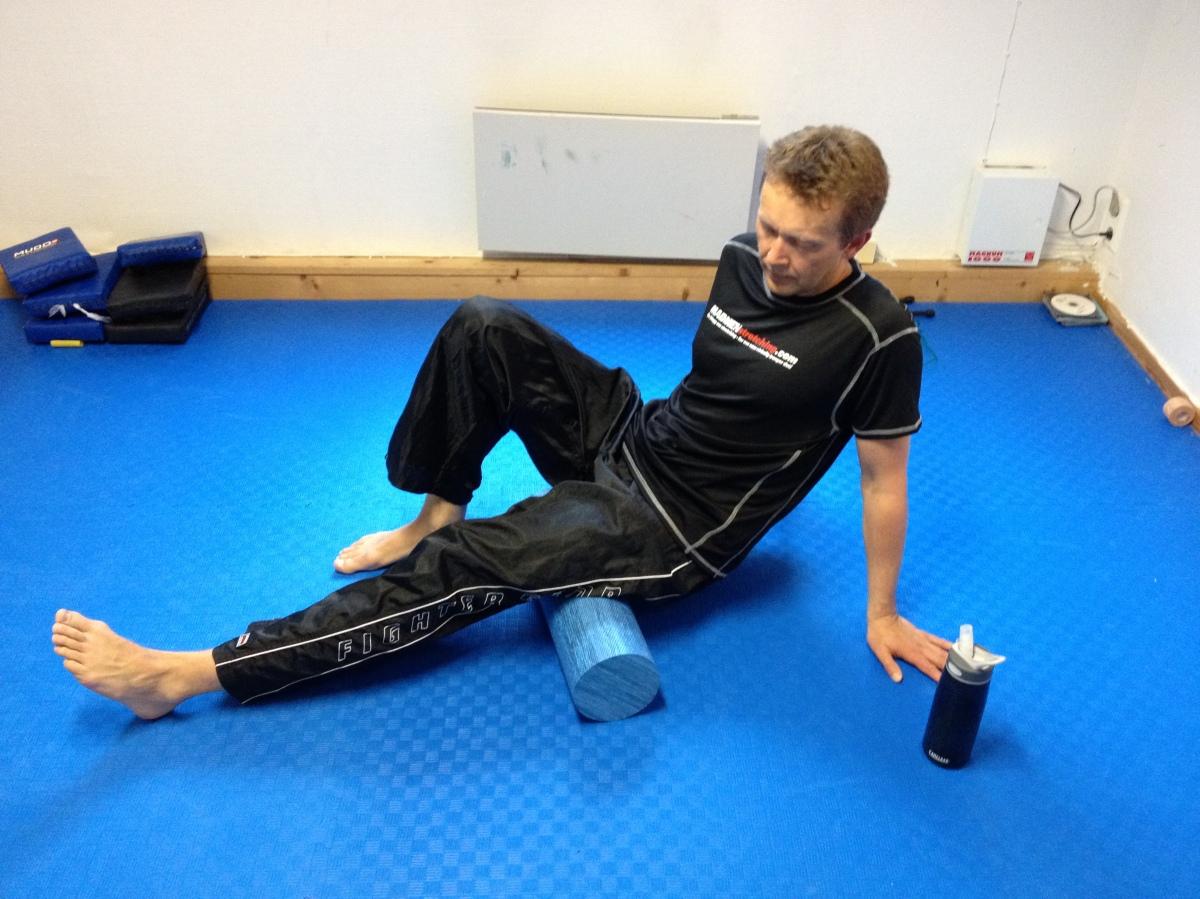 Stretching med foamroller